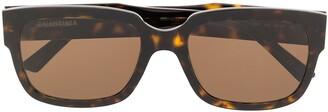 Balenciaga Eyewear Flat D-frame sunglasses