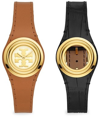 Tory Burch Miller Leather Two-Hand Watch & Strap Gift Set
