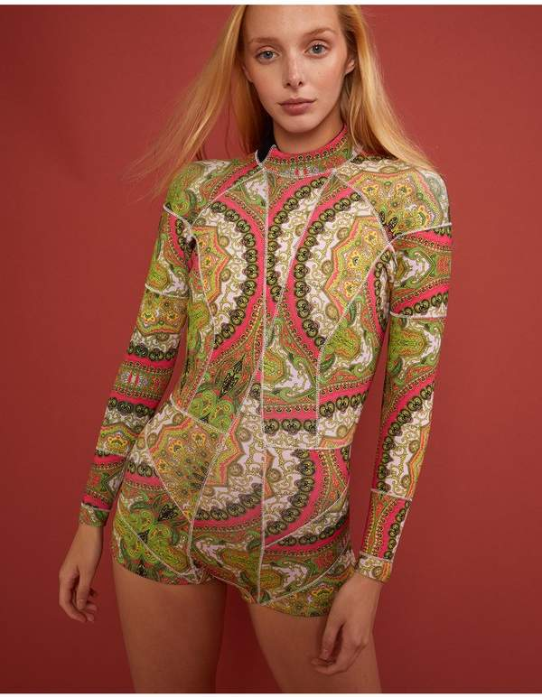 Cynthia Rowley Pink Paisley Print Wetsuit