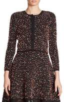 Oscar de la Renta Button-Front Knit Cardigan