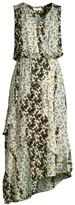 Parker Pippin Floral Asymmetrical Midi Dress
