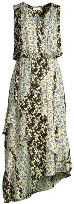 Parker Pippin Floral Asymmetrical Midi Dress