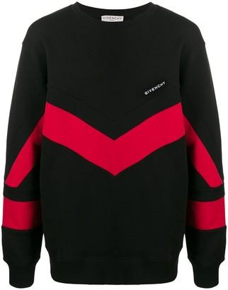 Givenchy Chevron-Panel Sweatshirt