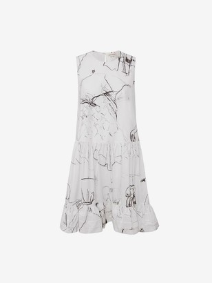 Alexander McQueen Dancing Girls Poplin Mini Dress