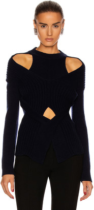 Dion Lee Cashmere Cable Tie Sweater in Ink | FWRD
