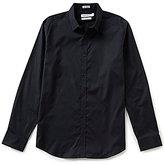 Calvin Klein Cool Tech Oxford Long-Sleeve Solid Woven Shirt
