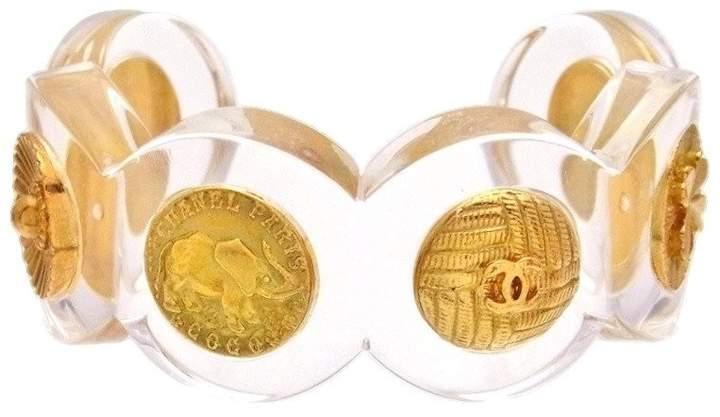 Chanel Gold Tone Metal Clear Bracelet