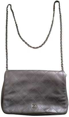 Chanel Wallet on Chain Silver Leather Handbags