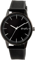 Simplify Mens Black Strap Watch-Sim5205