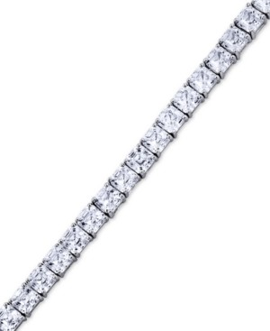 Arabella Swarovski Zirconia Asscher-Cut Tennis Bracelet in Sterling Silver