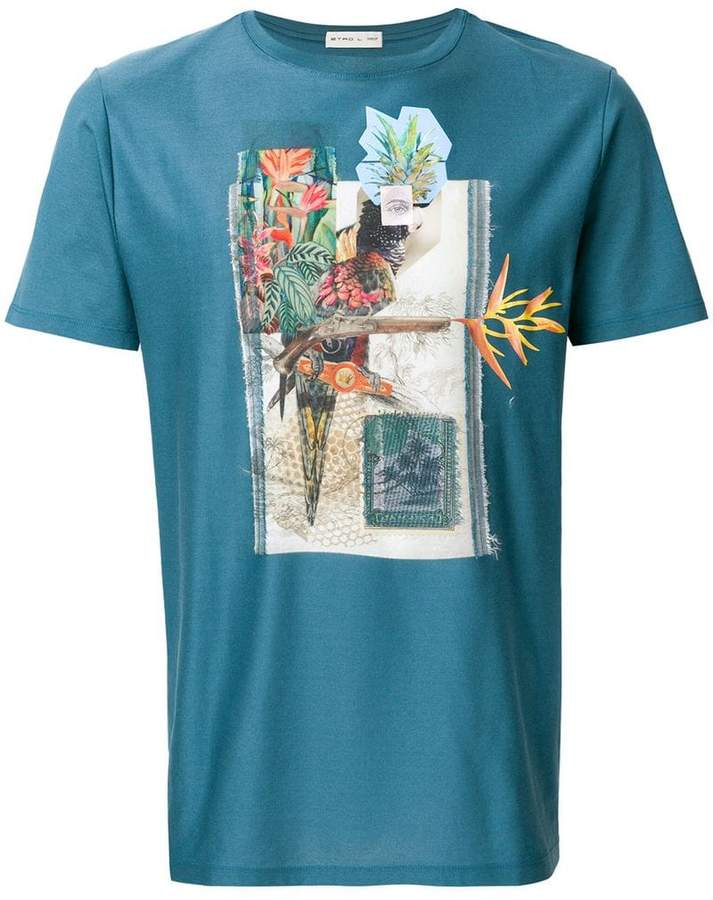 Etro collage print T-shirt
