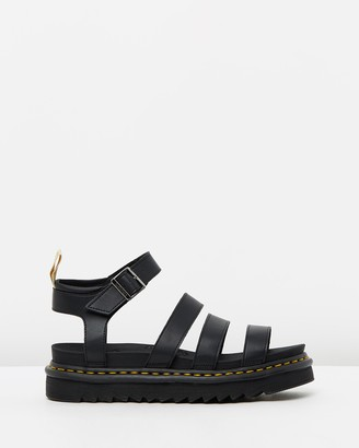 Dr. Martens Women's Black Strappy sandals - Womens Vegan Blaire Sandals - Size 9 at The Iconic