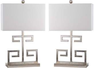 Safavieh Set Of 2 24In Greek Key Table Lamps