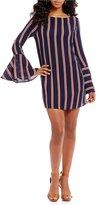 Gianni Bini Carina Bell Sleeve Striped Dress