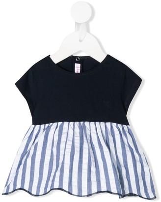 Il Gufo stripe peplum T-shirt