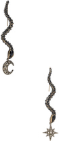 Roberto Cavalli Star & Moon Earrings