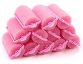 12pcs Popular Soft Sponge Hair Curler Rollers Cushion Random Color