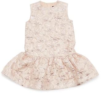 Oscar de la Renta Cloque sleeveless flared dress