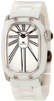 Glam Rock Women's GR72011 Monogram White Enamel Dial White Ceramic Watch