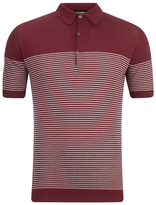 John Smedley Viking Sea Island Cotton Polo Shirt Russet Red