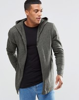 Asos Knitted Hooded Cardigan in Cotton