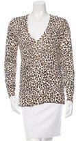 Equipment Leopard Print Silk Sweater