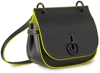 Mulberry Small Amberley Satchel Black Silky Calf With Neon Inking