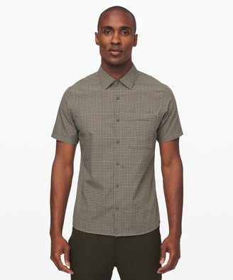 Lululemon Grid Light Short Sleeve Shirt