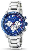 Sector Men's Quartz Watch with Blue Dial Chronograph Display and Silver Stainless Steel Bracelet R3273975001