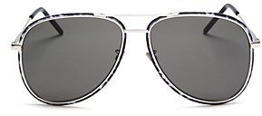 Saint Laurent Unisex Aviator Sunglasses, 56mm