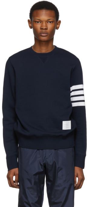 Thom Browne Navy Classic 4-Bar Sweatshirt