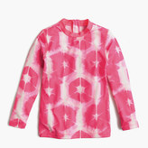 J.Crew Girls' rash guard in tie-dye