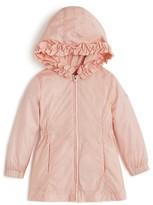 Giorgio Armani Girls' Ruffled Hood Zip Up Jacket - Sizes 2-7