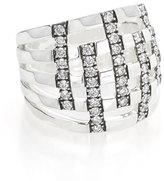 Ippolita 925 Glamazon Domed Diamond Stripe Ring, Size 7