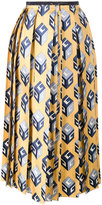 Gucci Wallpaper print skirt - women - Silk/Cotton/Viscose - 40