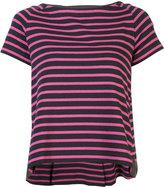 Sacai short-sleeve striped flared T-shirt - women - Cotton - 2