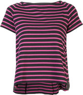 Sacai short-sleeve striped flared T-shirt - women - Cotton - 3