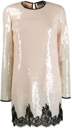 Ermanno Ermanno Sequin-Embellished Shift Dress
