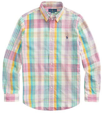 Polo Ralph Lauren Madras Long-Sleeve Button-Front Shirt