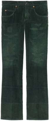 Gucci Washed velvet corduroy wide pant