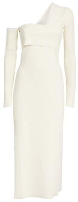 Proenza Schouler Bandage One-Shoulder Maxi Dress