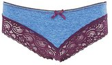 Charlotte Russe Lace-Trim Cotton Cheeky Panties