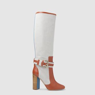 Malone Souliers Multicoloured x Roksanda Berenice Leather Boots Size IT 36