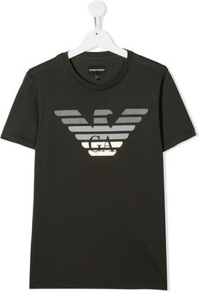 Emporio Armani Kids TEEN eagle logo T-shirt