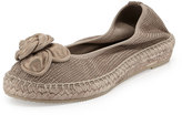 Andre Assous Cleo Leather Espadrille Flat, Pewter