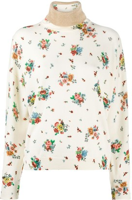 Paco Rabanne Floral Roll-Neck Jumper