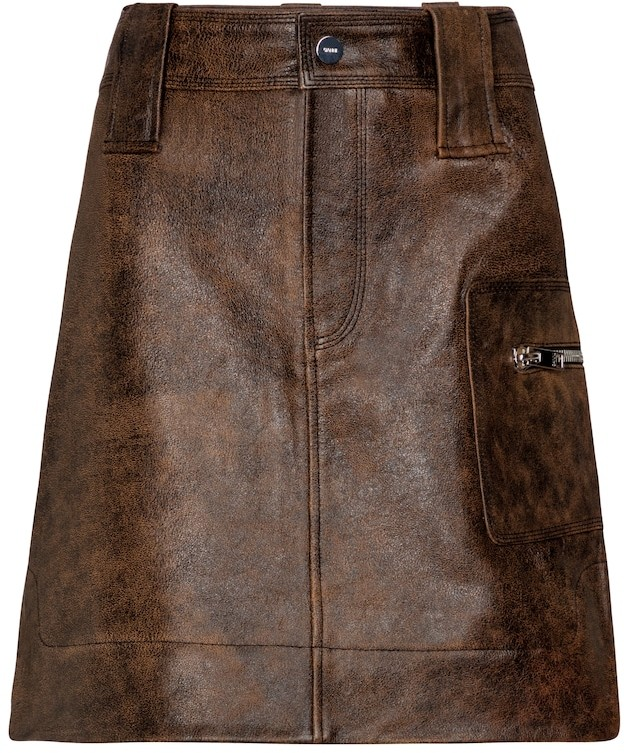 Thumbnail for your product : Ganni Leather miniskirt