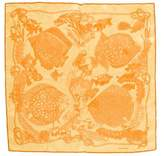 Hermes Grand Fonds Silk Pocket Square