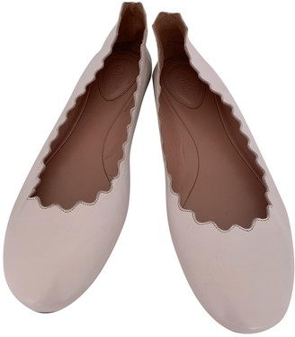 Chloé Lauren White Leather Ballet flats