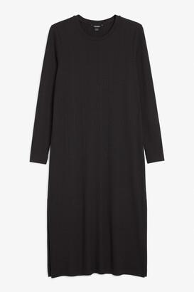 Monki Ribbed midi dress